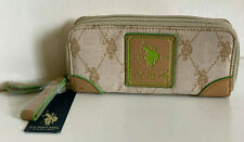 NEW! USPA U.S. US POLO ASSOCIATION CHINO VACHETTA DOUBLE ZIP AROUND WALLET $34