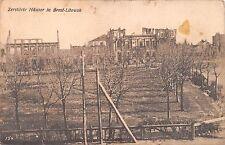 AK Zerstörte Häuser in Brest Litowsk Postkarte