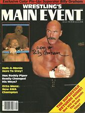 Sbg59 Superstar Graham signed Wrestling Magazine w/Coa