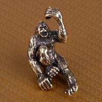 Kupfer Handgefertigt Ape Orang-Utan Messer Tier Anhänger DIY Schlüssel Anhänger
