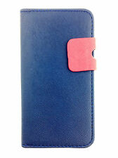 Blue Wallets skin style Case Cover with Card Slots for Apple iPhone 5/5S/SE UK