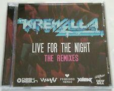 Krewella - Live for the night. Remixes (Maxi-Single, Promo, 12 tracks) 2013