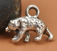 20pcs Tibetan silver WILD ANIMAL bear 3D Charms Pendants Beads A3332