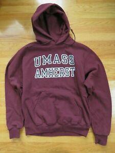 Vintage Champion Label - UMASS AMHERST MINUTEMEN (2XL) Hooded Sweatshirt