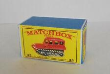 Repro Box Matchbox 1:75 Nr.35 Snow Truck