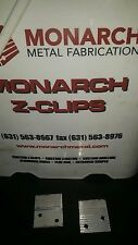 "(50) MONARCH 2"" Z-CLIPS  MF625-1-1/2  HEAVY DUTY ( INCLUDES 50 CLIPS / 25 SETS )"