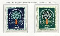 19034) UNITED NATIONS (New York) 1960 MNH** Nuovi** Forestry Congr.