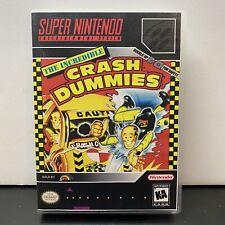 Crash Dummies Super Nintendo SNES Game Tested + Working & Authentic+Plastic Case