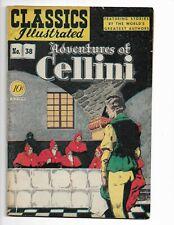 "CLASSICS ILLUSTRATED 38 - VG/F 5.0 - ""ADVENTURES OF CELLINI"" - 1ST ED (1947)"