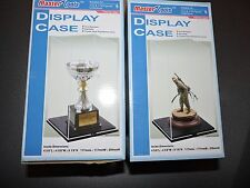 2 X MASTER TOOLS CLEAR PLASTIC DISPLAY CASES FOR 1/12th & 1/16th FIGURES # 09807