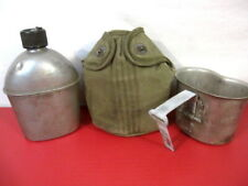 WWII US Army M1910 Dismounted Canteen, Cup and OD Green Cover - All Dtd 1945 #2