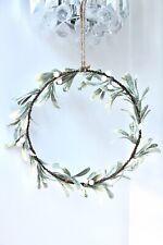 Beautiful Mistletoe Hoop Christmas Wreath by Heaven Sends
