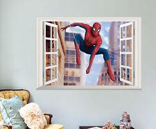 Home Decor 3D Spider-man Decal Removable Boys Kids Bedroom Wall Sticker art diy