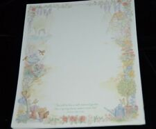 Vtg Decorated GARDEN Sheets DAYSPRING CARDS Stationary ISAIAH 58:11 NIV Signed