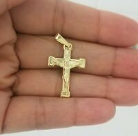 14k Yellow Gold Small Jesus Christ Crucifix Cross Charm Pendant