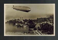 1935 Germany Graf Zeppelin RPPC postcard Cover to Czechoslovakia LZ 127