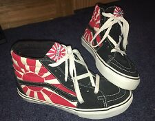 Mens Vans x Hosoi Sk8 Hi Supreme Japan Rising Sun Flag Skate Shoes Size 7 US