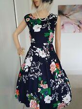 Jolie Moi Precioso Vestido Ocasión Fit & Flare De Verano Talla 16 usado una vez generoso