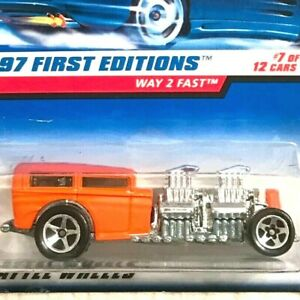 Hot Wheels Way 2 Fast Orange 1997 First Editions 7/12 Mint on Card