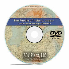 Ireland Vol 1, People Cities Family History and Genealogy 134 Books DVD CD B40