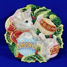 Kitten / Kitty / Cat Platter, Wall Plaque - Fitz and Floyd - Christmas - 8 3/4""