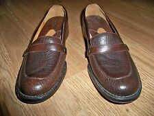 BOLO BROWN LEATHER STRAP ACROSS THE FRONT SLIP ON SHOES 7M NEW COMFORT W/STYLE