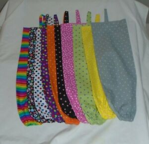 Polka dots and Striped Design Homemade Fabric Plastic Grocery Bag Holder