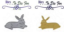 Dies...to die for metal cutting craft die Large laying Bunny Rabbit Easter line