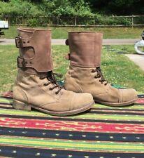 All Saints Mujer damisi Combat/botas Militares En Gamuza Beige Visón Nubuck EU39 6