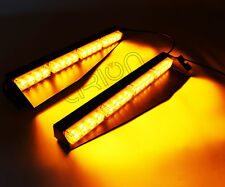 32 LED 32W EMERGENCY WARNING STROBE VISOR SUCKER SPLIT DECK LIGHT BAR AMBER 12V