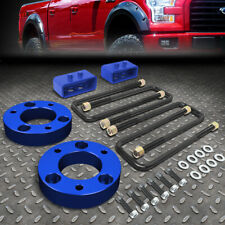 """FOR 2004-2017 FORD F150 4WD BLUE 2""""F SPACERS+2""""R BLOCKS RAISE LEVELING LIFT KIT"""