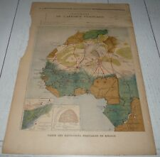 PETIT JOURNAL 1894 COLONIES CARTE EXPEDITIONS AFRIQUE A.O.F. / SUOMI FINLAND