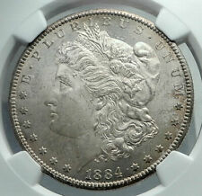 1884 CC UNITED STATES of America SILVER Morgan US Dollar Coin EAGLE NGC i78492