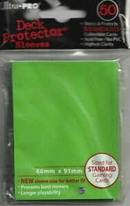 50 ULTRA PRO Solid Lime Green DECK PROTECTORS CARD SLEEVES FOR MTG POKEMON
