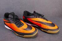 SB238 Nike Hypervenom Phade Herren Indoor Fußballschuhe schwarz orange  Gr. 44