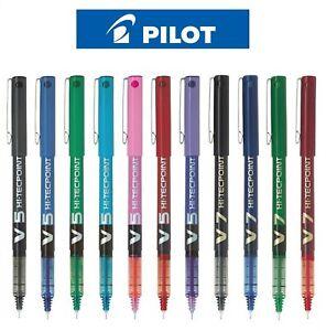 Pilot Hi-Tecpoint V5 / V7 - Liquid Ink Roller Ball Pen Black Blue Red 0.5 / 0.7