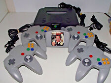 Nintendo 64 Console N64 and 007 Goldeneye 4 Controllers  PAL