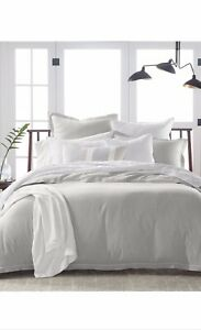 Hotel Collection Linen Blend Duvet Cover Size King Color Gray $420
