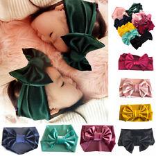 1X Red-Soft Baby/ Kids Toddler Bow Hairband Headband Turban Big Knot Head-Wrap #