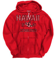 Hawaii State Pride T Shirt State Flag USA Hibiscus Gift Ideas Zipper Hoodie