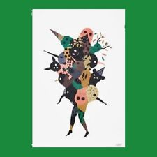 """IKEA Art Event 2017 Poster Print""""We Are One""""Artist Hell'O Animal Human Head Mix"""