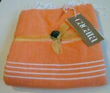 Cacala Peshtemal Orange Turkish Bath Towel / Bag Combo Beach Holiday
