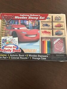 Disney Lightning McQueen Wooden Stamp Set