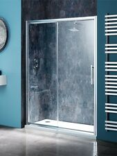 Shower Enclosure Recessed 1300mm Sliding Door & 1300 x 760 Stone Tray with waste