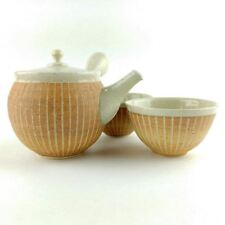 Japanese Tokoname Kyusu tea set / Artisan pottery by Jyunzo Maekawa