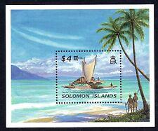 Solomon Islands 1996 4$ Capex Canoe SG MS860  Miniature Sheet Unmounted Mint