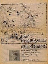 Cat Stevens Lady D'Arbanville UK '45 Advert 1970 #2