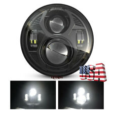 """Black 5-3/4"""" 5.75'' Round LED Projector Headlight Hi/Lo Beam for Motorcycle Bike"""