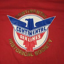 SDD Vtg Continental airlines historical society red Stedman t-shirt