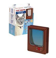 Chatière porte pour chat CAT MATE électromagnétique marron